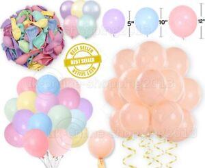 10-50 Macaron Pastel Balloons Birthday Unicorn Ballons Baby shower Party BalonUK