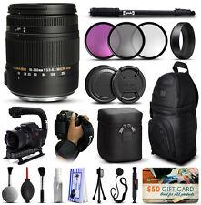 Sigma 18-250mm F3.5-6.3 DC OS Macro HSM Lente para Nikon + Deluxe Kit Accesorios