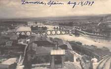 Zamora Castile and Leon Spain birds eye view of area real photo pc Y12009