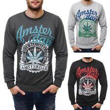 Herren-Kapuzenpullover & -Sweats mit Rundhals-Sweatshirts in Plusgröße