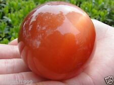 NATURAL CITRINE CRYSTAL Red SPHERE BALL HEALING GEMSTONE 60MM +Stand