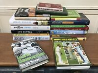 Large Collection/Job Lot 19 Mixed Cricket Books Library - Some Vintage