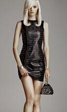 VERSACE per H&M in Pelle Borchie Abito Anna DELLA RUSSO