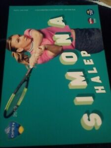 WTA WESTERN & SOUTHERN 5x7 SIMONA HALEP TENNIS CARD 2019 EDITION GIVEAWAY