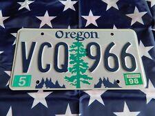 PLAQUE IMMATRICULATION AMERICAINE US USA OREGON VCQ 966 05/98 LICENSE PLATE