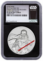 Darth Vader UHR 2 oz Silver 2017 Niue Star Wars NGC PF69 UC FR Black SKU49469