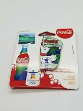 VANCOUVER 2010  OLYMPIC - COCA COLA - DAY 2 BOTTLE PIN  - ON ORIGINAL CARD .