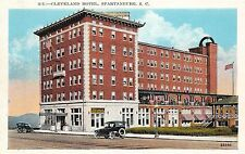 B58/ Spartanburg South Carolina Sc Postcard c1910 Cleveland Hotel Building 2
