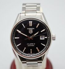 Tag Heuer Carrera Calibre 5 Ref WAR211A-0 Stainless Steel Automatic Men's Watch.