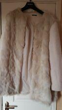 Roman originals Cream Fur Ladies Coat