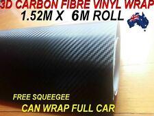 BRAND NEW 3D Carbon Fibre Car Vinyl WRAP Sticker, 1.52M X 6M ,Free Squeegee,OZ7