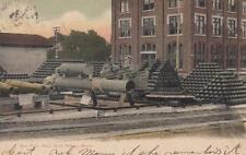 Antique POSTCARD c1906 Gun Park Navy Yard KITTERY, ME MAINE 18144