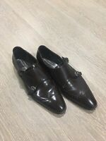 Versace Mens Shoes Size 44 In Dark Brown