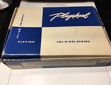 Vintage Playskool Col-O-Rol Blocks No. 302