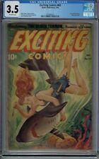 CGC 3.5 EXCITING COMICS #60 CLASSIC ALEX SCHOMBURG (XELA) AIRBRUSHED COVER 1948