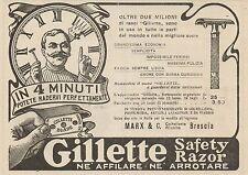 Z1373 GILLETTE Safety Razor - Pubblicità d'epoca - 1909 Old advertising