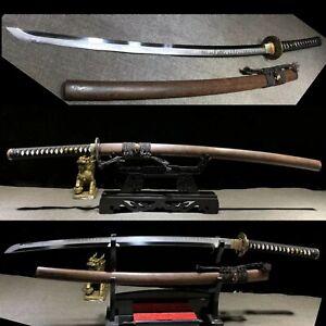High quality Grind Blade Clay Tempered T10 Steel Katana Japanese samurai Sharp