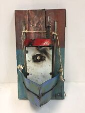 NEW Boat recycled metal & wood sign-nautical-beach-lake-man cave