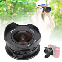 8mm F3.8 180° Wide Angle Fisheye Lens for Olympus M4/3 Mount Camera Accessories