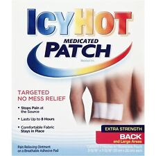 New Icy Hot Extra Strength Back & Large Areas Medicated Patch, 5 count