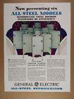 1929 GE General Electric Monitor-Top Refrigerators 6 Models vintage print Ad photo
