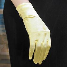 Wrist Length Shortie Satin Stretch Gloves Prom Formal Wedding - G176