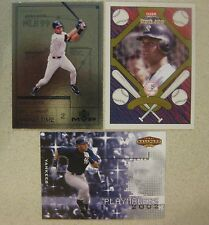 DEREK JETER THREE CARD INSERT LOT 1999 UD MVP/02 BALLPARK IDOLS/04 PATCHWORKS