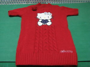 Pull Fille Âge 7/8 Hauteur Cm.128 Couleur Rouge - Hello Kitty