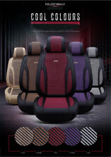 2x Front Seat Cover+1x 3 in 1 Rear Row Seat Cover 5D Luxury Craft Cool Feeling