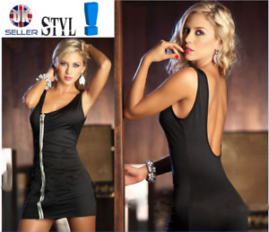 Sexy Black Clubwear Mini Dresses Night Club One Size: Regular