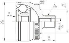 OPEN PARTS Juego de articulación árbol transmisión Lado rueda CVJ5233.10