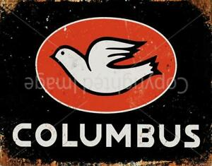 COLUMBUS RETRO VINTAGE CYCLING METAL TIN SIGN POSTER WALL PLAQUE