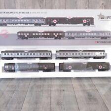 MÄRKLIN / 4MFOR 42563 - H0 - 4 tlg Set Lazarettwagen Silberlinge - OVP - #i34858