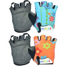 Flower Skating Sport Bicycle Bike Gloves Half Finger Cycling Gloves Children M-L