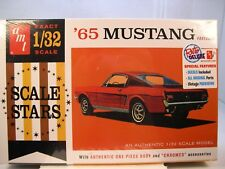 1965 FORD MUSTANG FASTBACK AMT 1:32 SCALE PLASTIC MODEL CAR KIT