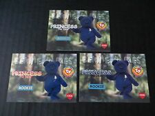 Ty Beanie Babies Bboc Series I S1 ~ Red Blue Silver Birthday 3 Card 43 Princess