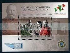 2011   -  SAN MARINO GARIBALDI  EMISSIONE CONGIUNTA  NUOVO **
