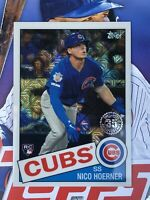 2020 TOPPS SERIES 1 SILVER PACK 1985 PARALLEL RC NICO HOERNER CUBS CARD # 6