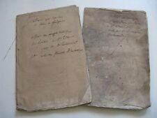 DE CAUMONT 2 PLAQUETTES ASSOCIATION NORMANDE 1833 ENVOI Signé FOUGERES CAEN