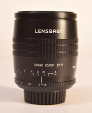 Lensbaby Velvet 85mm f1.8 lens Nikon Mt.