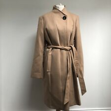 MARKS AND SPENCER Coat BNWT Size 16 Camel Brown Tie Classic