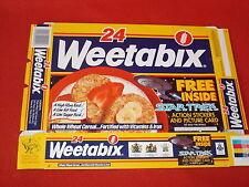 STAR TREK GENERATIONS 1994 WEETABIX EMPTY BOX ALIEN  UNDERGROUND PLAY-SCENE
