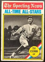 TY COBB 1976 TOPPS ALL-TIME ALL-STARS VINTAGE BASEBALL CARD #346