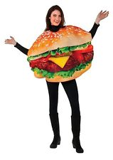Adult Grillty as Charred Hamburger Cheeseburger Costume