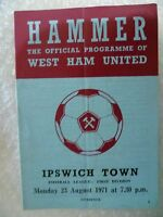 1971 WEST HAM UNITED v IPSWICH TOWN, 23rd Aug (League Division One)