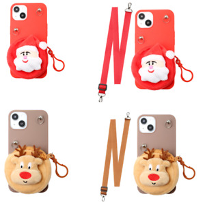 Cute Christmas Coin Purse Cases for iPhone 13 12 11 Pro Max X Max XR 6 7