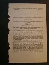Government Report 1884 Southern Kansas Santa Fe Railway Co Indian Territory