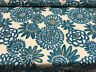 Genevieve Gorder Flower Pops Basketweave Peacock Upholstery Drapery Fabric