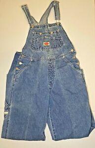 Vintage 90's Revolt Clothing Co Carpenter Blue Denim Bib Overalls Cotton Large