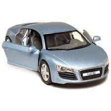 """New Kinsmart 5"""" Audi R8 Diecast Model Toy Car 1:36 - Light Blue"""